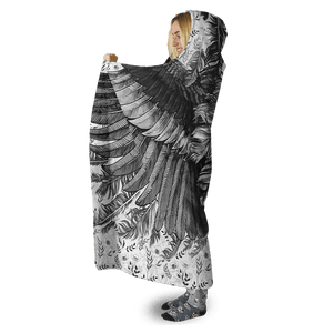 3D Beautiful Wings Full-Print Hooded Blanket