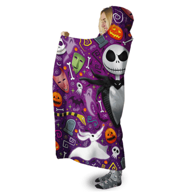 3D Nightmare before christmas Full-Print Hooded Blanket