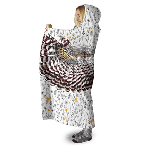 3D Beautiful Owl Full-Print Hooded Blanket