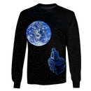 3D Astronaut  in space with earth  Full-Print T-shirt - Hoodie