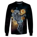 3D Astronaut  with planets in the space   Full-Print T-shirt - Hoodie
