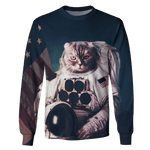 3D Astronaut Cat  in galaxy  Tshirt - Zip Hoodie