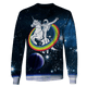 3D astronaut riding unicorn into space  Tshirt - Zip Hoodie Apparel