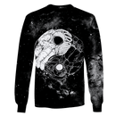 3D Astronaut Shaping into Yin and Yang OuterSpace Full-Print T-shirt - Hoodie