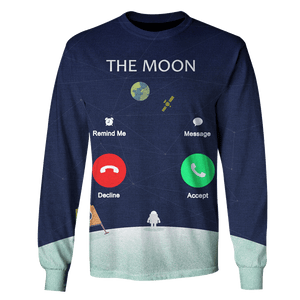 3D The Moon's calling  Tshirt - Zip Hoodie Apparel