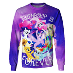 3D Friendship Unicorn Tshirt - Zip Hoodie