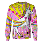 3D Unicorn and Pastry Full-Print T-shirt - Hoodie