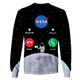 3D Nasa is calling for astronaut Full-Print T-shirt - Hoodie Apparel