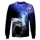 Gearhuman 3D pulldog in out space Tshirt - Zip Hoodies Apparel
