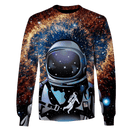 3D  Astronaut  in the space Full-Print T-shirt - Hoodie