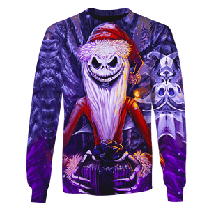 Gearhuman 3D  Santa Jack Skellington   Tshirt - Zip Hoodies Apparel