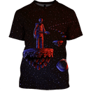 3D Astronaut  skull in space  Full-Print T-shirt - Hoodie