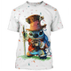 Gearhuman 3D  Lilo and Stitch  Tshirt - Zip Hoodies Apparel