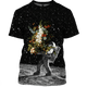 3D  Astronaut Bringing Flowers To The Moon  Full-Print T-shirt - Hoodie Apparel
