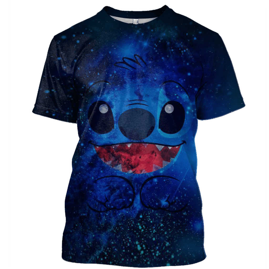 Stitch and Lilo Tshirt - Zip Hoodies Apparel