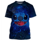 Gearhuman 3D   Stitch and Lilo Tshirt - Zip Hoodies Apparel