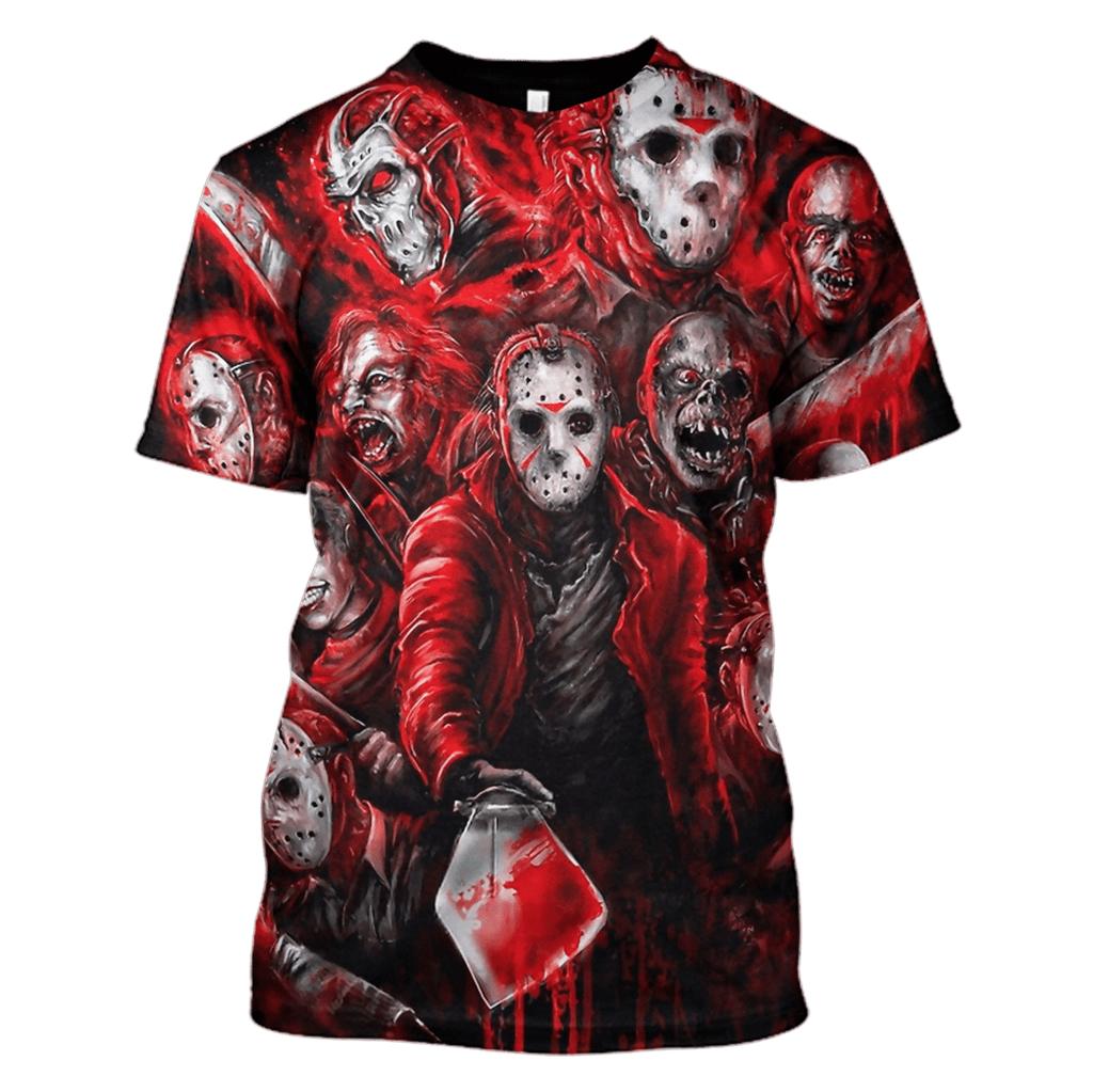 Jason Voorhees Friday the 13th Hoodies - T-Shirts Apparel