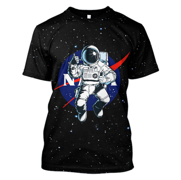 70201b555 3D nasa Astronaut in the space Full-Print T-shirt - Hoodie – Gearhuman