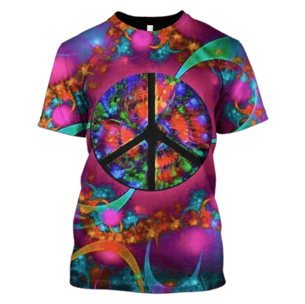Gearhuman 3d Peace Sign Hoodies - T-Shirt Apparel