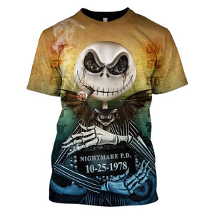 3D The Nightmare Before Christmas Full-Print T-shirt - Hoodie Apparel