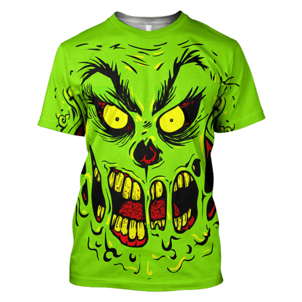 The Grinch T-Shirts - Zip Hoodies Apparel