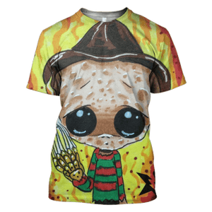 Gearhuman 3D  Chibi of Freddy Krueger  Hoodies - Tshirt - Zip Hoodies Apparel