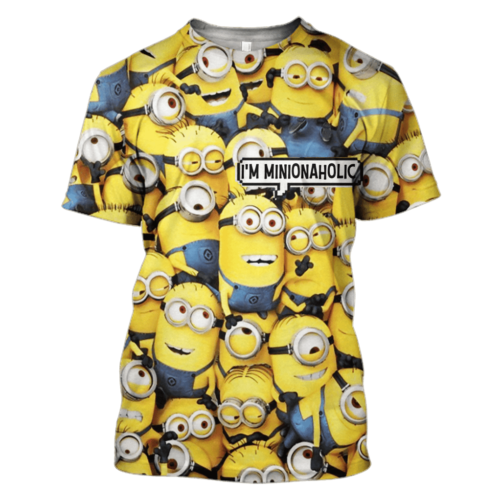 I AM MINIONAHOLIC Hoodies - T-Shirts - Zip Hoodies Apparel
