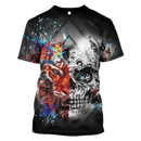 3D Lion and Skull  ZipHoodie - Tshirt