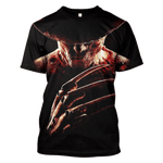 3D A Nightmare on Elm Street  Freddy Krueger   Tshirt - Zip Hoodie