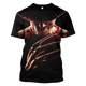 3D A Nightmare on Elm Street  Freddy Krueger   Tshirt - Zip Hoodie Apparel