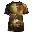 3D  Lion Father and Son  Hoodie - Tshirt