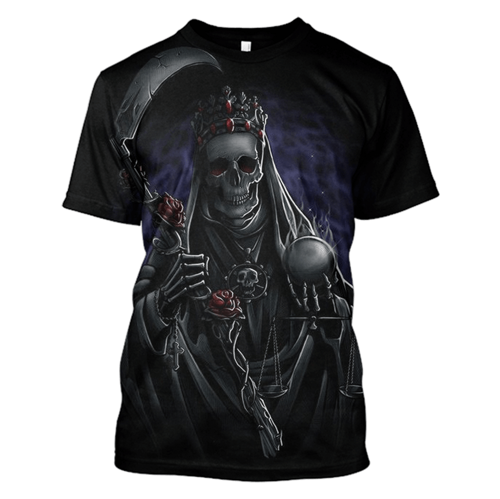 Gearhuman 3d -Halloween Death Hoodies T-Shirt Apparel
