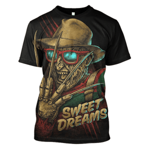 3D Sweet Dream of  Freddy Krueger   Tshirt - Zip Hoodie Apparel