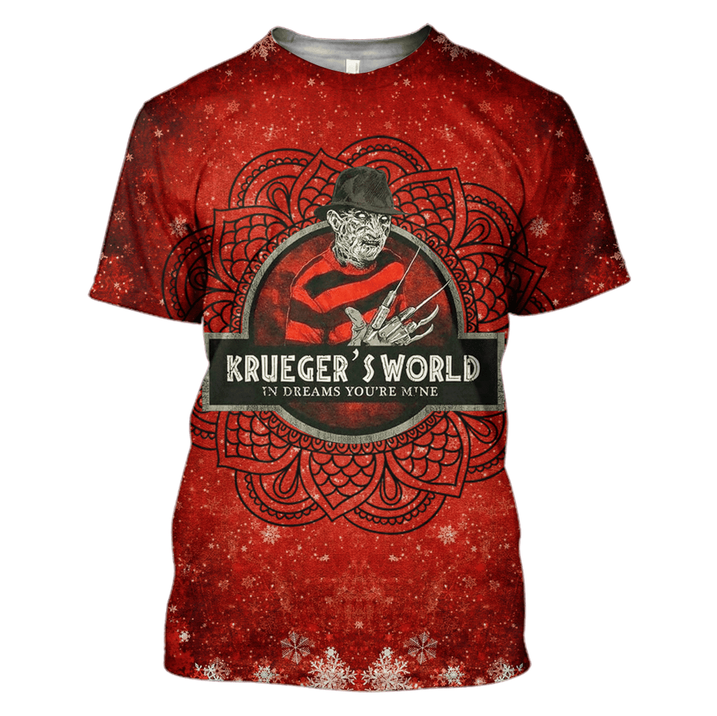 Freddy Krueger Tshirt - Zip Hoodies Apparel