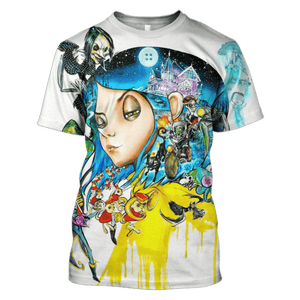 Gearhuman 3D coraline and Ghost Town Hoodies - Tshirt Apparel