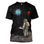 3D Astronaut with love  in the space  Full-Print T-shirt - Hoodie