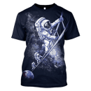 3D  Astronauts Climbing Up Space Full-Print T-shirt - Hoodie