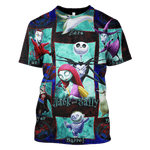 3D Jack and Sally Nightmare Before Christmas   Hoodie - Tshirt