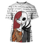 3D  Tim Burton Nightmare Before Christmas Poem Tshirt - Zip Hoodie