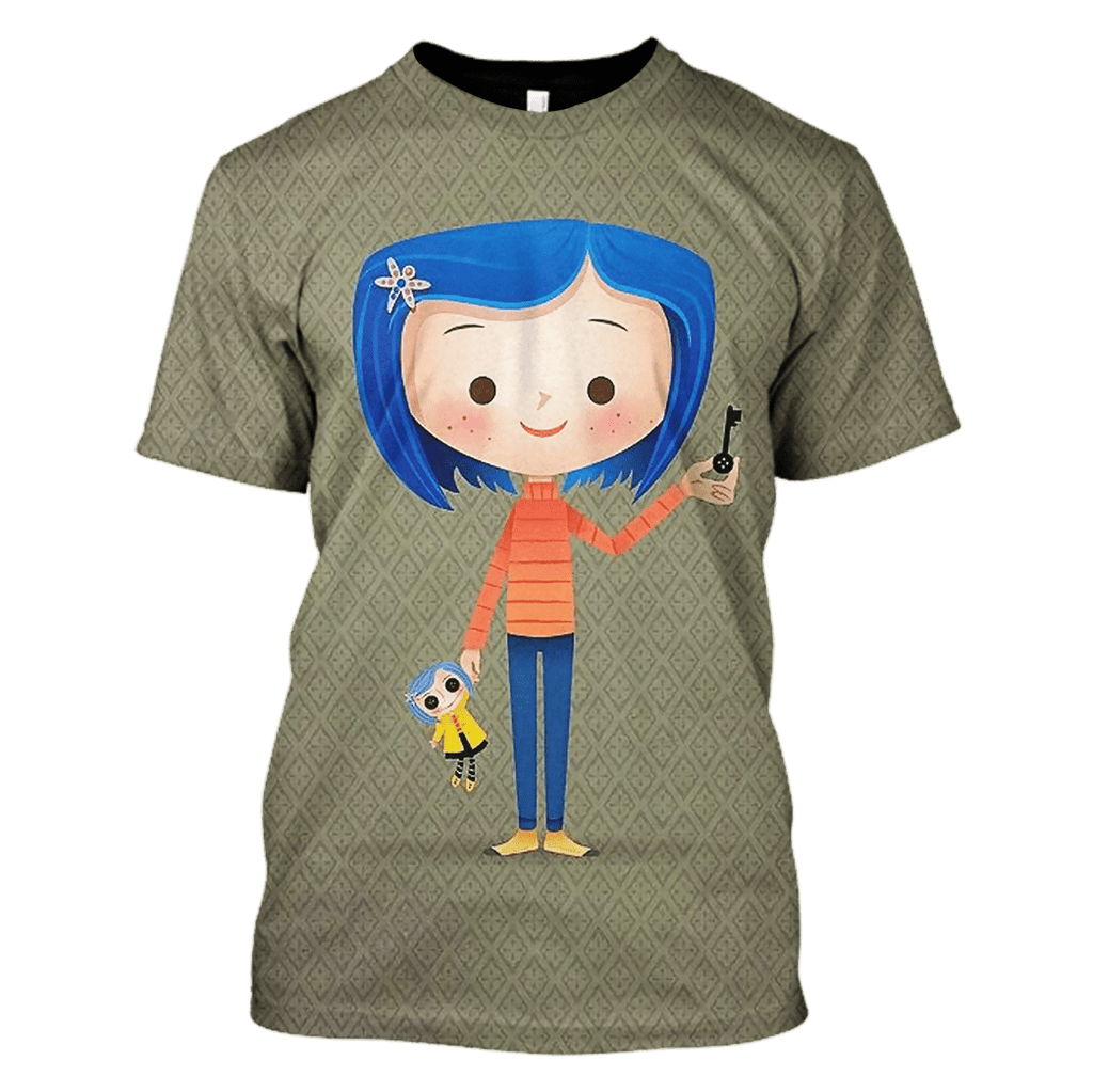 Coraline Doll Tshirt - Zip Hoodies Apparel