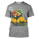 Gearhuman 3D Bowsette And Bowser Mario Tshirt - Zip Hoodies Apparel