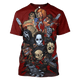 3D   Horror Movie Slashers  Hoodie - Tshirt Apparel