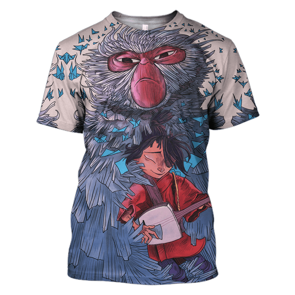 Kubo and the two Strings Tshirt - Zip Hoodies Apparel