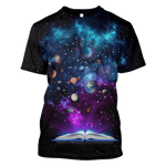 3D  All planets in the universe from a book  Full-Print T-shirt - Hoodie