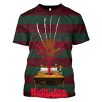 3D Nightmare on the Elm street  Tshirt - Zip Hoodie