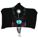 3D Moonlight Love you to moon and back Full-Print Hooded Blanket