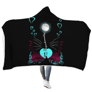 Gearhuman 3D Moonlight Love you to moon and back Custom Hooded Blanket