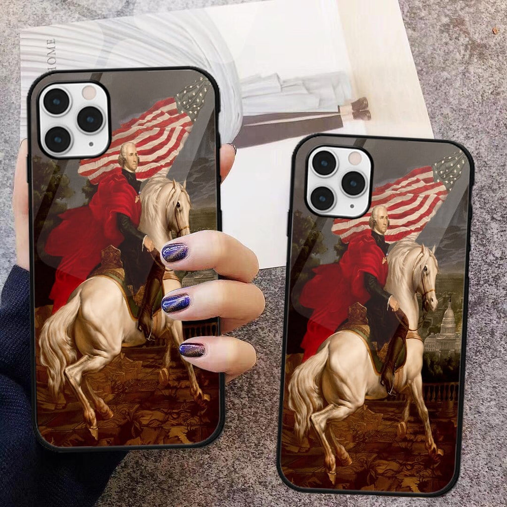 Custom Glass Phone Case Cover George Washington