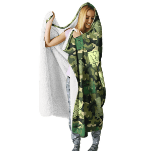3D Camera Full-Print Hooded Blanket