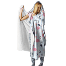 3D Flamingo And Summer Full-Print Hooded Blanket